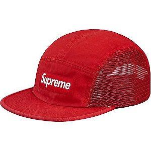 "SUPREME - Boné Mesh Side Panel Camp ""Red"""