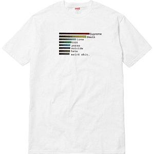 """SUPREME - Camiseta Chart """"White"""""""