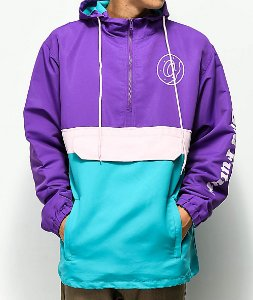 "ODD Future - Jaqueta Colorblock Anorak ""Purple/Teal/Pink"""