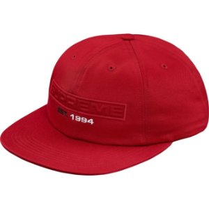 "SUPREME - Boné Embossed Logo 6-Panel ""Red"""