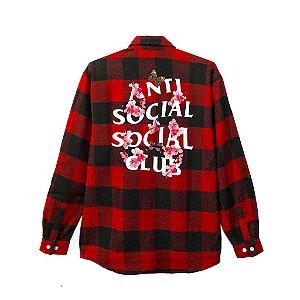 "ANTI SOCIAL SOCIAL CLUB  - Camisa Kkock Flannel ""Black/Red"""