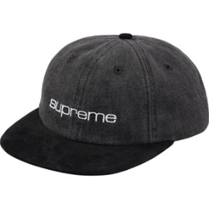 "SUPREME - Boné Denim Suede Compact Logo 6-Panel ""Black"""