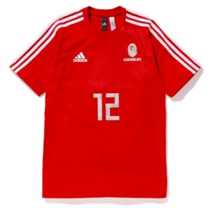 "adidas x Bape - Camiseta World Cup 2018 Winning Collection Football ""Red"""