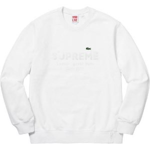 "Supreme x Lacoste - Moletom Double Logo ""White"""