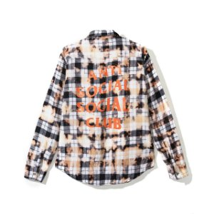 "ANTI SOCIAL SOCIAL CLUB  - Camisa Flannel PSY ""White"""