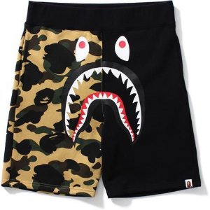 "BAPE - Bermuda 1st Camo Split Shark ""Black/Yellow"""