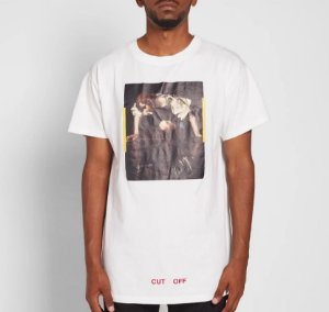 "OFF-WHITE - Camiseta Caravaggio Narciso ""White"""