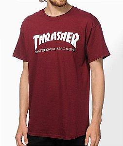 """THRASHER - Camiseta Skate Magazine """"Burgundy"""""""