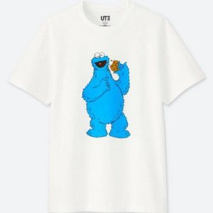 "UNIQLO X Kaws x Sesame Street - Camiseta Cookie Monster ""White"""