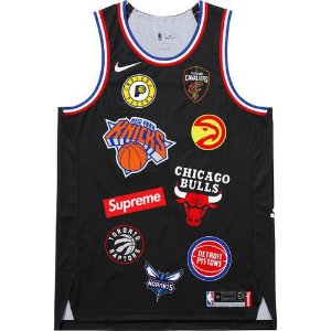 "SUPREME X NIKE X NBA - Regata Authentic Jersey ""Black"""