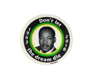 SUPREME - Adesivo MLK Don't Let The Dream Die