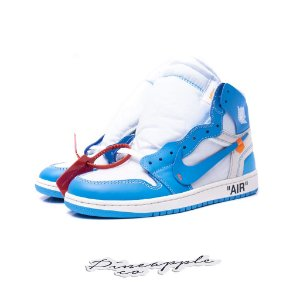 "Nike Air Jordan 1 Retro x OFF-WHITE ""UNC"""