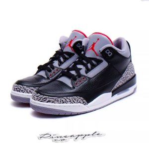 "Nike Air Jordan 3 Retro ""Black Cement"" (2011) -NOVO-"
