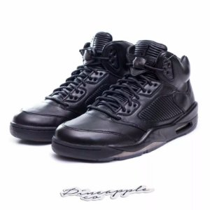 "NIKE - Air Jordan 5 Retro Premium ""Triple Black"" -NOVO-"