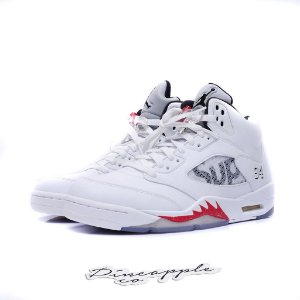 "Nike Air Jordan 5 Retro x Supreme ""White"" -NOVO-"