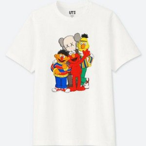 "UNIQLO X Kaws x Sesame Street - Camiseta Graphic ""White"""