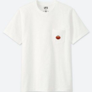 "UNIQLO X Kaws x Sesame Street - Camiseta Elmo Pocket ""White"""