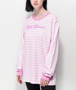 "ODD Future - Camiseta Stripe ""Pink"""
