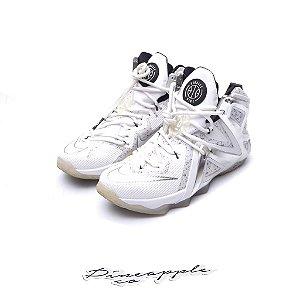 """NIKE x PIGALLE - LeBron 12 Elite SP """"White"""" -USADO-"""