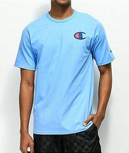 """CHAMPION - Camiseta Script Logo """"Blue"""""""