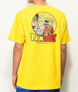 "Primitive x Dragon Ball Z - Camiseta Circle ""Yellow"""