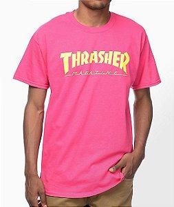 "THRASHER - Camiseta Flame Logo ""Pink"""