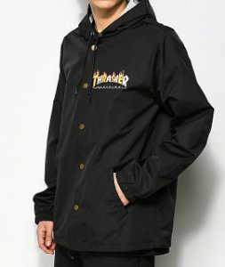 "THRASHER - Jaqueta Coaches Flame ""Black"""