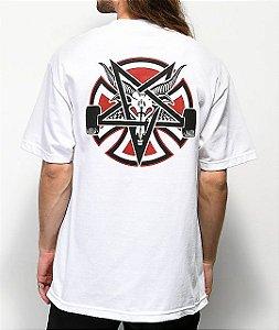 "Thrasher x Independent - Camiseta Pentagram ""White"""
