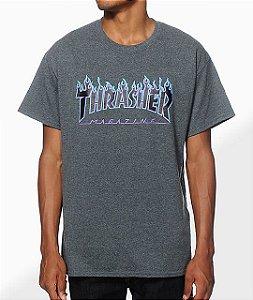 "THRASHER - Camiseta Flame Logo ""Dark Grey"""