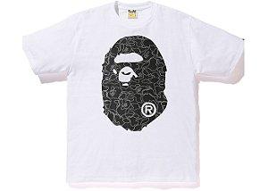 "BAPE - Camiseta Foil Neon Camo Big Ape Head ""White/Silver"""