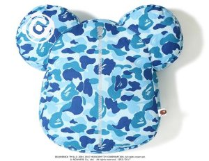 "Bape x Medicom - Travesseiro ABC Camo Bear Cushion ""Blue"""