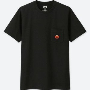 "UNIQLO X Kaws x Sesame Street - Camiseta Elmo Pocket ""Black"""