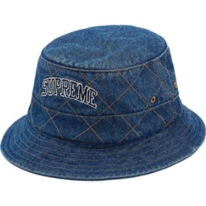 "SUPREME - Pescador Diamond Stitch Crusher ""Washed Blue"""