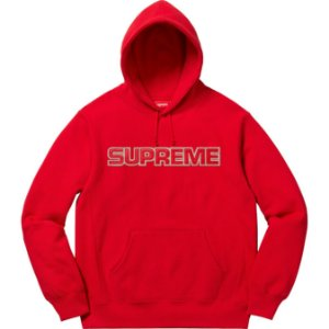"SUPREME - Moletom Perforated Leather ""Red"""