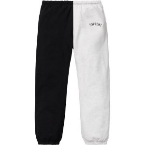 "SUPREME - Calça Split ""White/Black"""