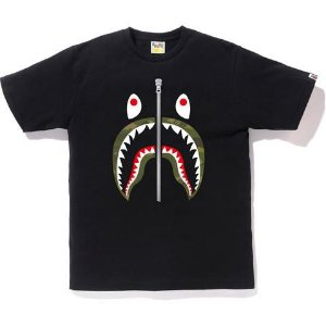 "BAPE - Camiseta Gradation Camo Green Shark ""Black"""