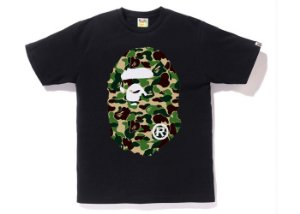 "BAPE - Camiseta ABC Big Ape Head ""Black"""