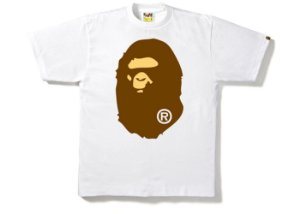 "BAPE - Camiseta Big Ape Head ""White"""
