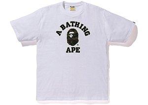"BAPE - Camiseta Reflector 1st Camo College ""White"""