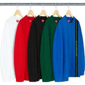 ENCOMENDA - SUPREME - Camiseta Vertical Logo Stripe
