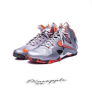 "Nike Lebron 11 Elite Team ""Wolf Grey/Laser Crimson"""