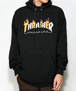 """THRASHER - Moletom Flame Magazine  """"Black"""""""