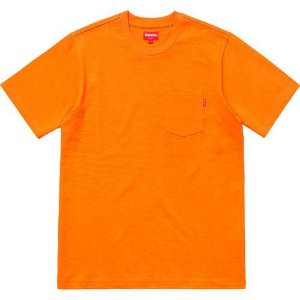 "SUPREME - Camiseta Pocket ""Orange"""