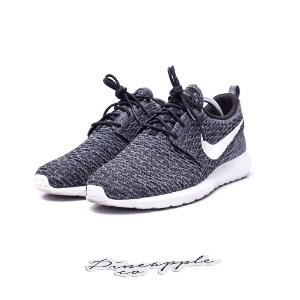 "Nike Roshe Run Flyknit ""Black/Dark Grey"""