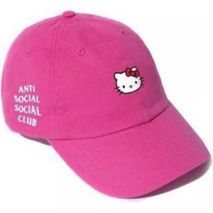 "Anti Social Social Club - Boné Hello Kitty ""Pink"""