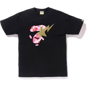 "BAPE - Camiseta ABC Face On Bapestar Camo Pink ""Black"""