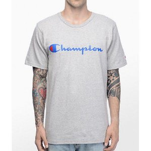 "CHAMPION - Camiseta Script Logo ""Grey"""