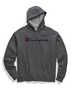"CHAMPION - Moletom Logo Script ""Granito"" -NOVO-"