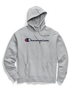 "CHAMPION - Moletom Graphic Script ""Grey"""