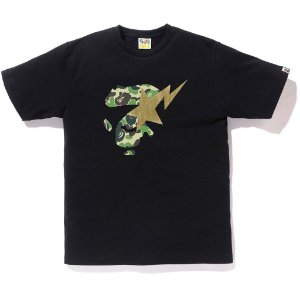 "BAPE - Camiseta ABC Ape Face on Bapesta ""Black"""